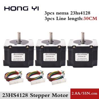 3 uds NEMA 23 1,8 grados 57 Motor paso a paso híbrido 2 fases 41mm Motor 0.55N.m 2.8A Motor paso a paso para equipo de Monitor de impresora 3D