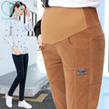 905# Elastic Waist Thin Corduroy Maternity Pants 2017 Spring Summer Clothes for Pregnant Women Pregnancy Belly Casual Trousers