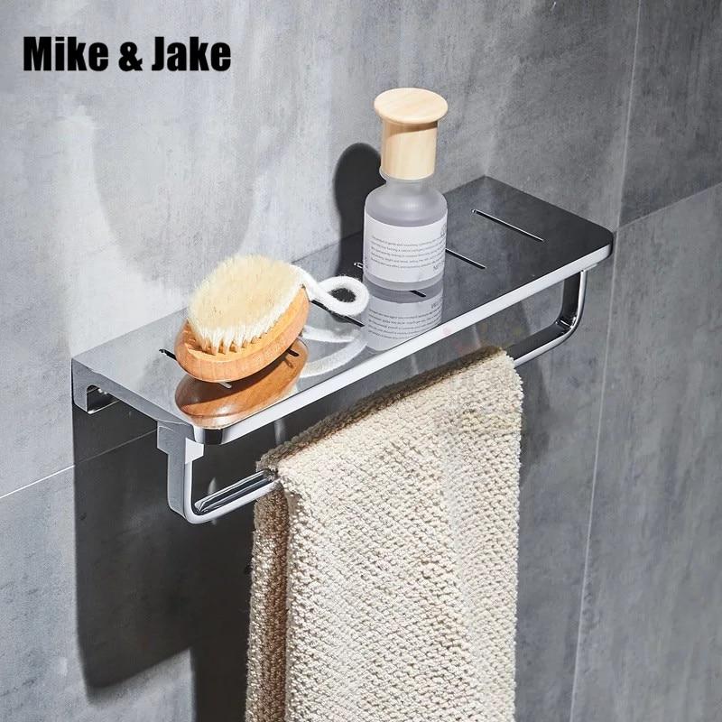 Étagère de salle de bain en laiton entier avec porte-serviettes porte-serviettes en laiton showerroom étagère support salle de bain panier salle de douche ventouse étagère murale 30 cm
