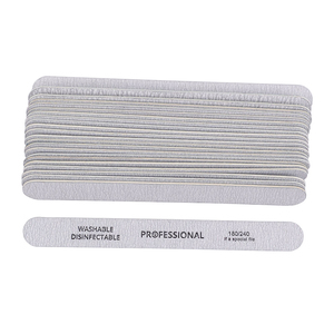 Image 3 - 10pcs/lot Sandpaper Nail File for gel nails 180/240 Professional Manicure Buffer Pedicure Double sided set de limas Nail Tools