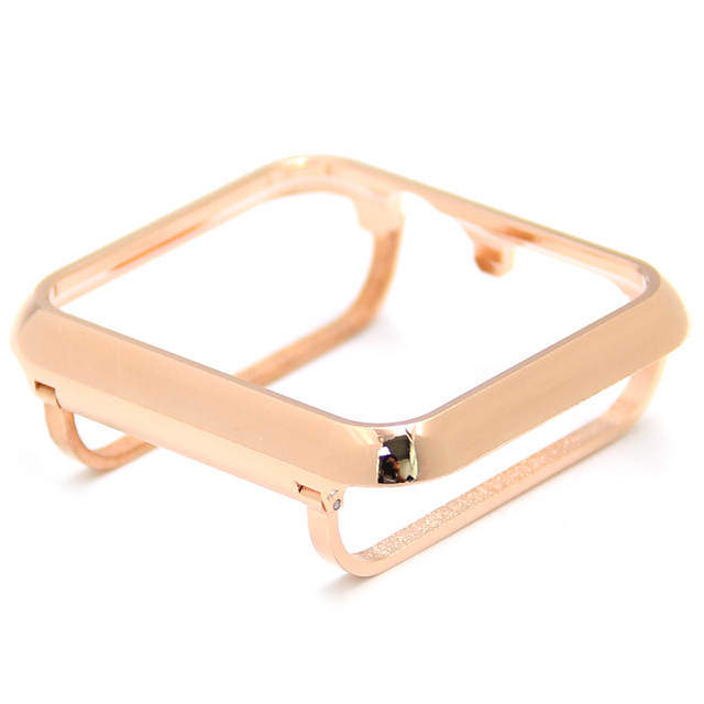 Dropship Top Quality 44mm Bezel Handwork Steel Metal Gold Case Bezel Compatible Apple Watch Series 4 40mm for Apple Watch Case | Fotoflaco.net