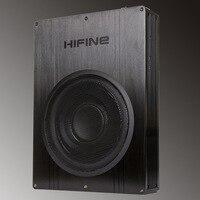 Original HIFINE HI-8001 8'' Car Audio Active Subwoofer Max Power Output 250W Built-in Amplifier Board Pure Bass Car Subwoofer