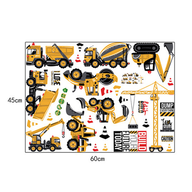 Digger and Truck Wall Stickers