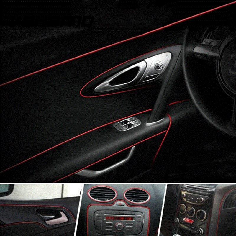 5 meters car side interior exterior parts pvc door decorative tape auto dash panel moulding trim. Black Bedroom Furniture Sets. Home Design Ideas