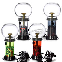 Newest Electronic Herbal Cigarette Green Aromatherapy Hookah huge Vaporizer Dry Herb with 4 Color Light Heating Adjustment