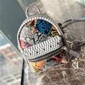 2016 nueva tendencia de la moda de viajes de Liu Ding serpiente raya bandolera estudiantes Coreanos bucket bag