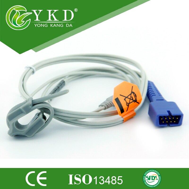 Free Shipping New 1Pcs 9 pin plug DS-100A Neonate Silicon Wrap Oximax Spo2 Sensor 1mFree Shipping New 1Pcs 9 pin plug DS-100A Neonate Silicon Wrap Oximax Spo2 Sensor 1m