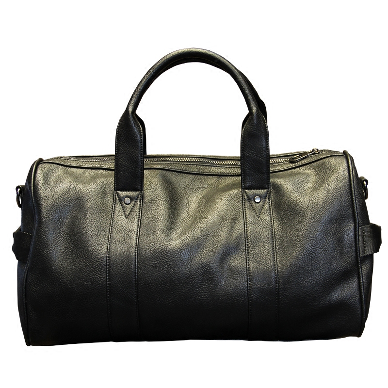Xiao.P Brand High Quality PU Leather Men's Travel Bags Black Bucket Handbags Shoulder Bag Big Volume Men Business Luggage Bag big volume weekend bag for man in pu material men s business leather travel bag men duffel bag high quality men shoulder bags