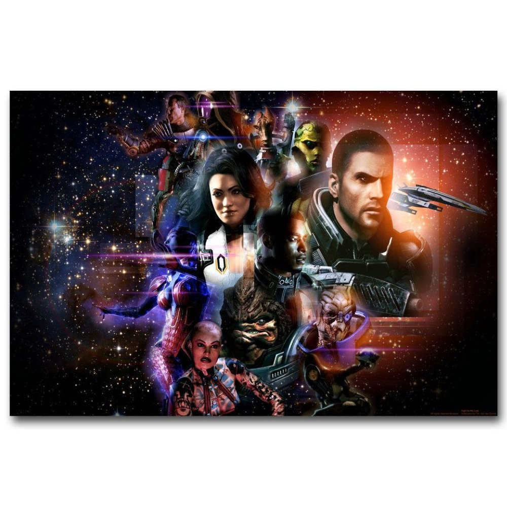 Mass Effect Hot Game Wall Sticker Home Decoration Silk Art Poster image