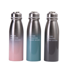 350 450ml Children Water Bottle Vacuum Insulated Flask Mini Portable Thermal Sport Chilly Hot Cold Cup Student Thermos Cute Mug