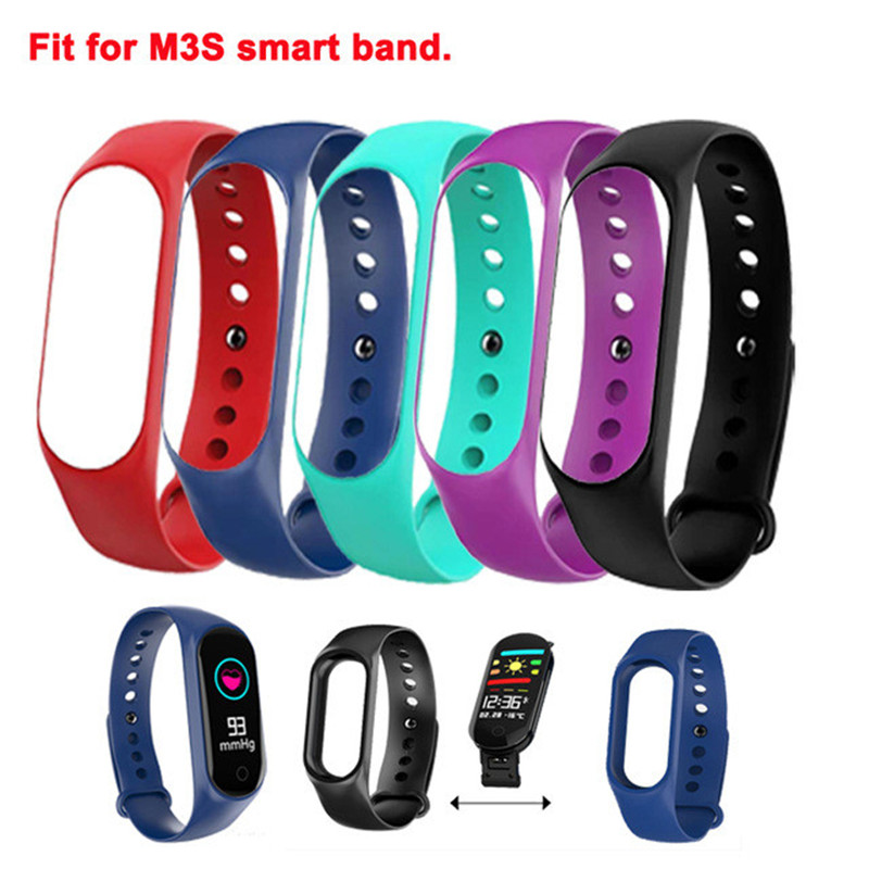 Silicone Wrist Strap Smart Bracelet Belt Replacement for M3S Smart Band Belt Accessories Belt Replacement Colorful Strap in Smart Wristbands from Consumer Electronics