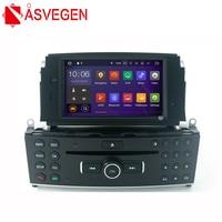 Asvegen 1 DIN Car Radio GPS Navigation DVD Player For Mercedes Benz C200 C180 W204 2007 2010 Steering Wheel control multimedia