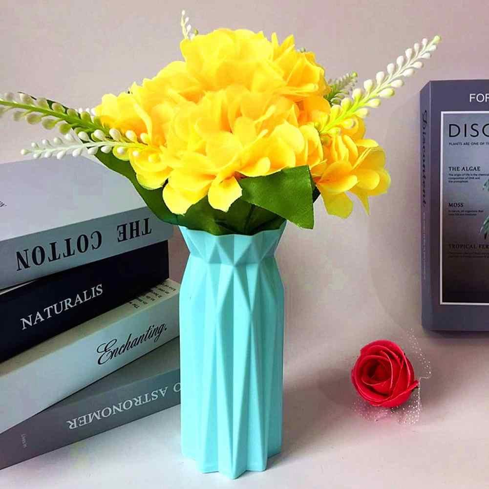 مزهرية بلاستيكية الشمال هندسية اوريغامي المزهريات للزهور للمنازل النباتات ترتيب وعاء زهرية الديكور المنزل زهرة زهرية