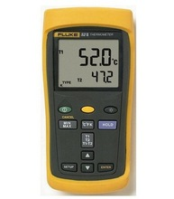 Big sale Fast arrival FLUKE 52-II F522 Dual Input Digital Thermometer with Two 80PK-1 thermocouples F52-2 Thermocouple Thermometer
