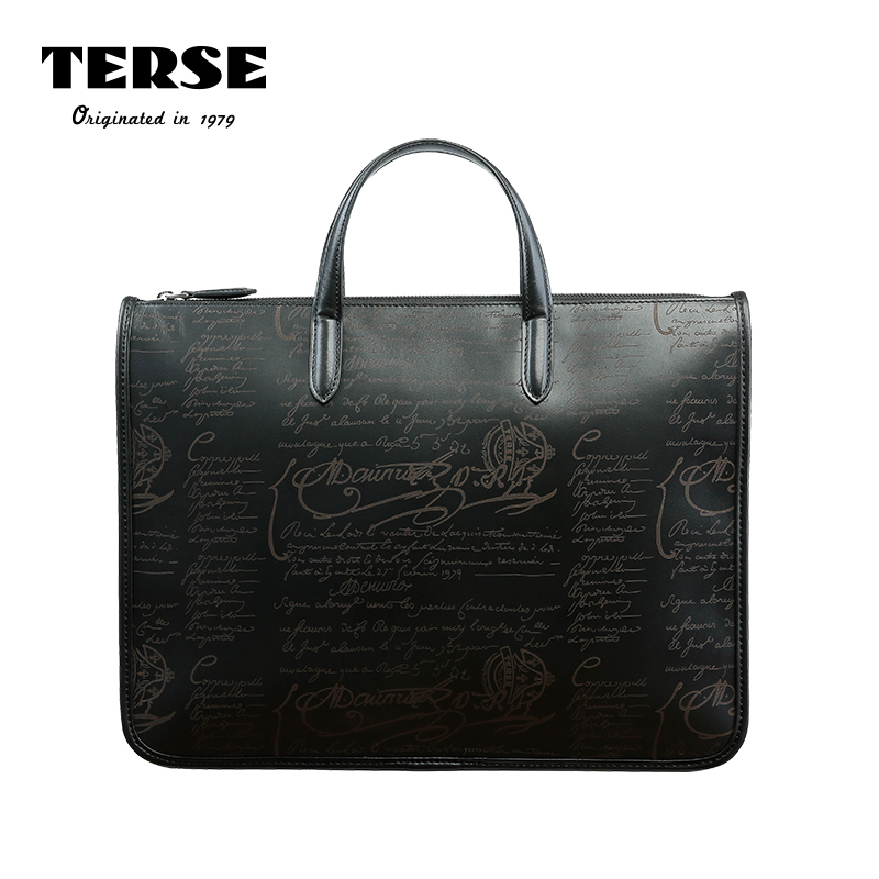 Terse Men S Briefcase Handmade Calfskin Italian Leather Tote Bag For Male Color Manager Office Doent Portfolio 308 In Briefcases From Luggage