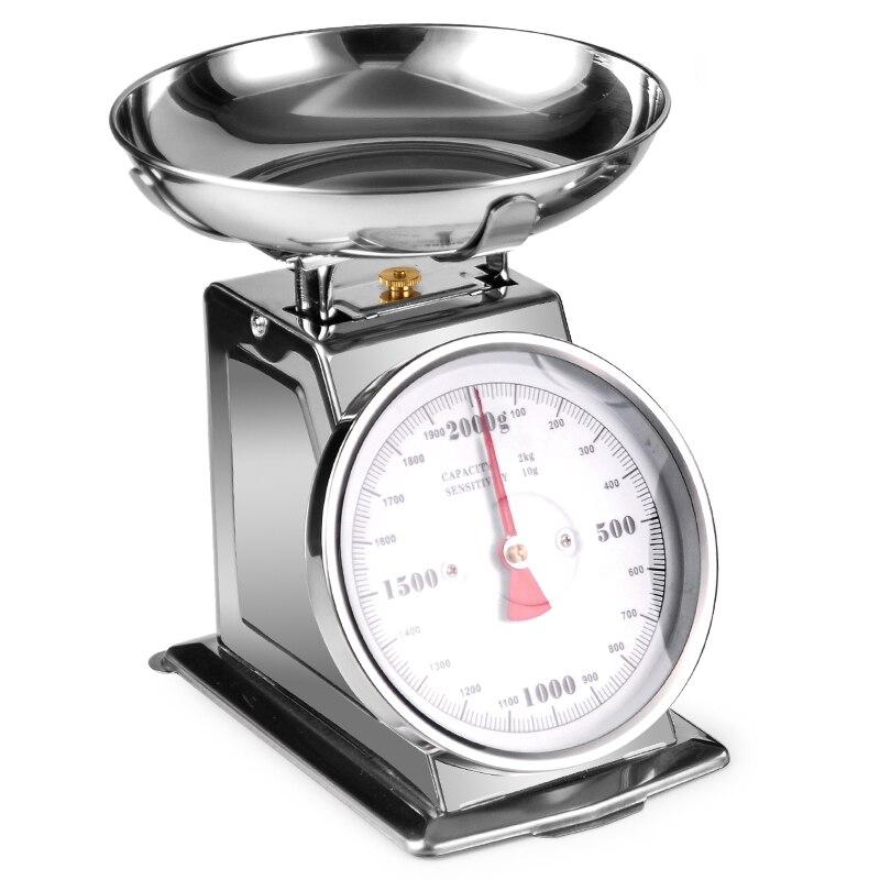 Balance mécanique de cuisine de ménage d'acier inoxydable de 304 2 kg 4 kg