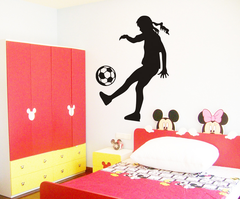 Soccer Girl Silhouette Sports Wall stickers Art Vinyl ...