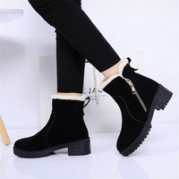 A Fashion Female Children Warm Snow Boots 2017 Heels Winter Boots New Arrival Women Ankle Boots