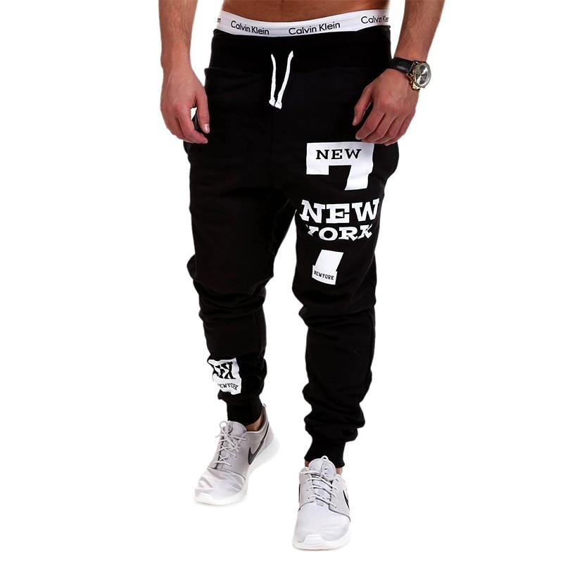 Hip Hop Streetwear Men Letters Print Sportwear Baggy Casual Male Tracksuit Trousers Black Pants Sweatpants Plus Size M-4XL