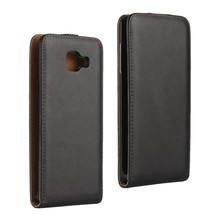 Black New Genuine Leather Flip Vertical Case with Magnetic Closure Cover Case for Samsung Galaxy A3 2016/A5 2016/A7 2016