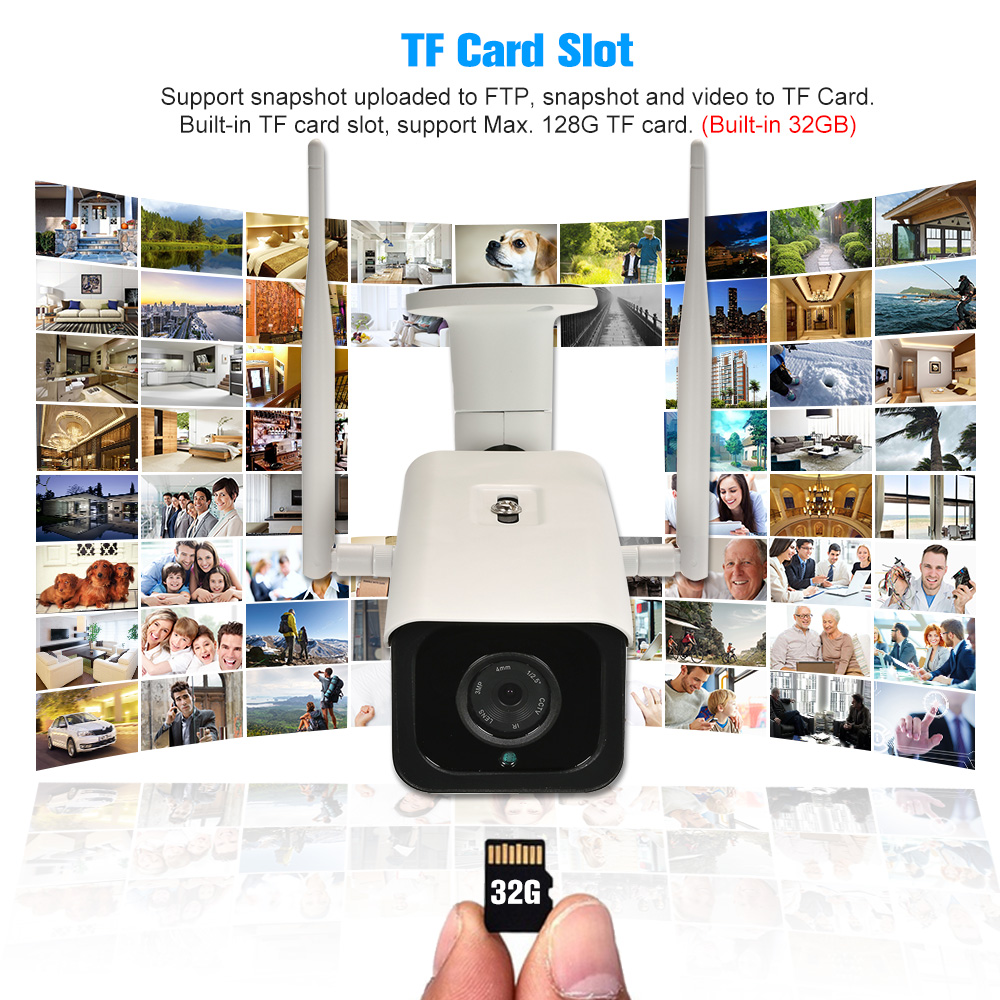 4G Wireless IP Camera 720P HD Network Onvif P2P IR Cut Night Vision Outdoor IP66