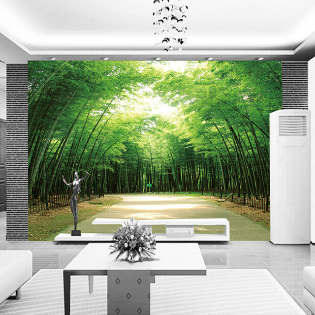 Hot Selling bamboo design 3d wall murals home decor wallpaper ...