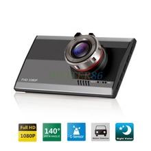 """Ultra delgada de 3.0 """"140 Grados de Hd 1080 P Coche DVR Cámara de Vídeo Grabador Dash Cam de Detección de Movimiento de La Visión Nocturna Del G-sensor Dashcam"""
