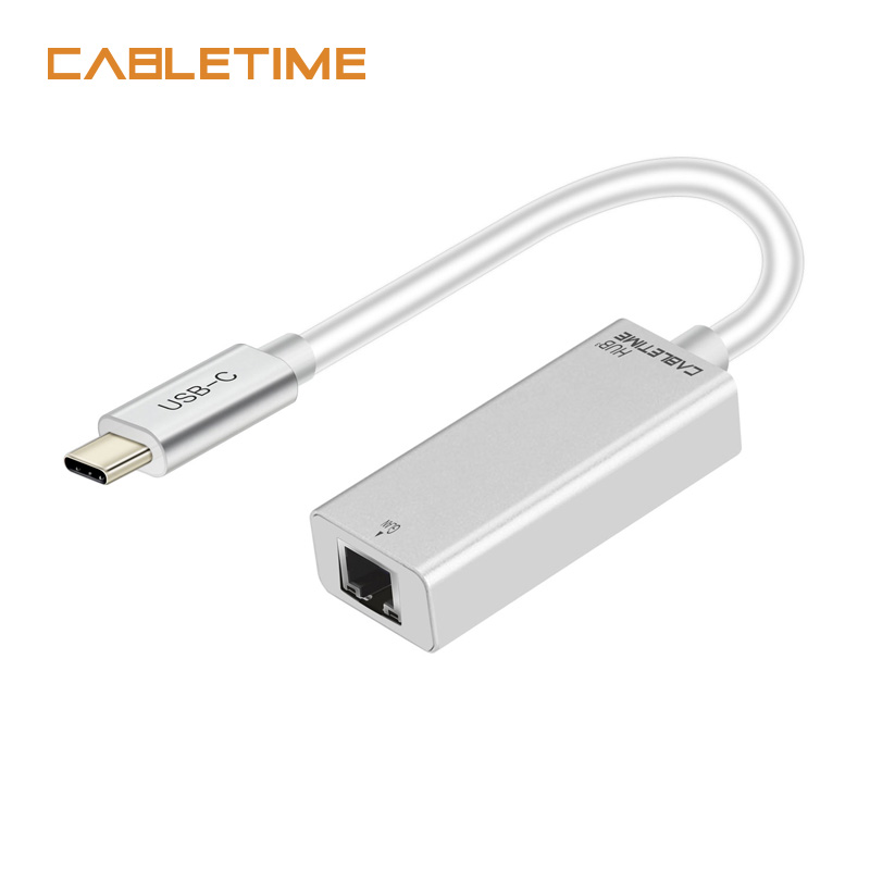 Cabletime USB Type C Ethernet Adapter Network Card USB C 3.1 to Ethernet RJ45 Lan Type c ...