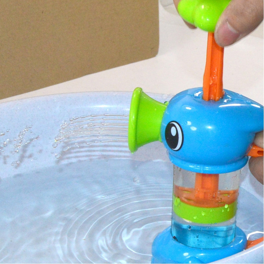 Baby Bath Water Toys Eco-friendly ABS Sea Horse Sprinkler Pumping Design Colourful Hippocampal Shape Toy For Children Gift