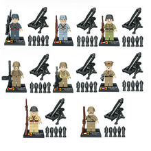 Super Heroes Star wars Military Minifigures World War 2 With Weapons Bricks Building Blocks Action Mini Figures Children Toys
