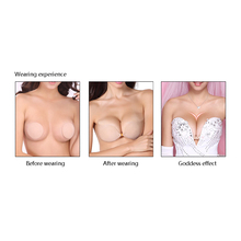 OUBINEW Fly Bra Strapless Silicone Push Up Invisible Bra Self Adhesive Backless Bralette Plus Size Seamless Bras Women Intimates