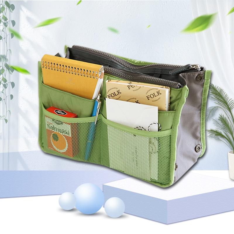Storage Bag Make Up Bag Insert Handbag Household Cosmetic Bag Women/men Organizer Handbag 17 Colors Multifunction Practical