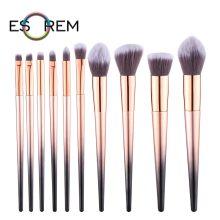 ESOREM Gradient Tapered Handle Makeup Blending Brushes Angled Foundation Flat Definer Brush Pincel Maquiagem 35821