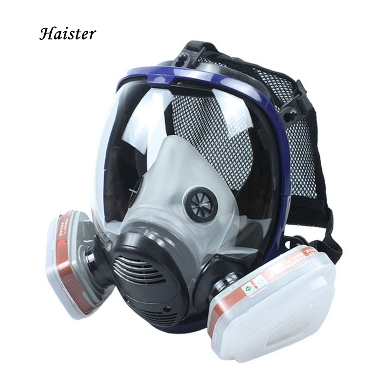 Anti Virus Mask Comprehensive Cover Spherical Big Vision Silica Gel Painting Chemical Industry Anti Formaldehyde Fire