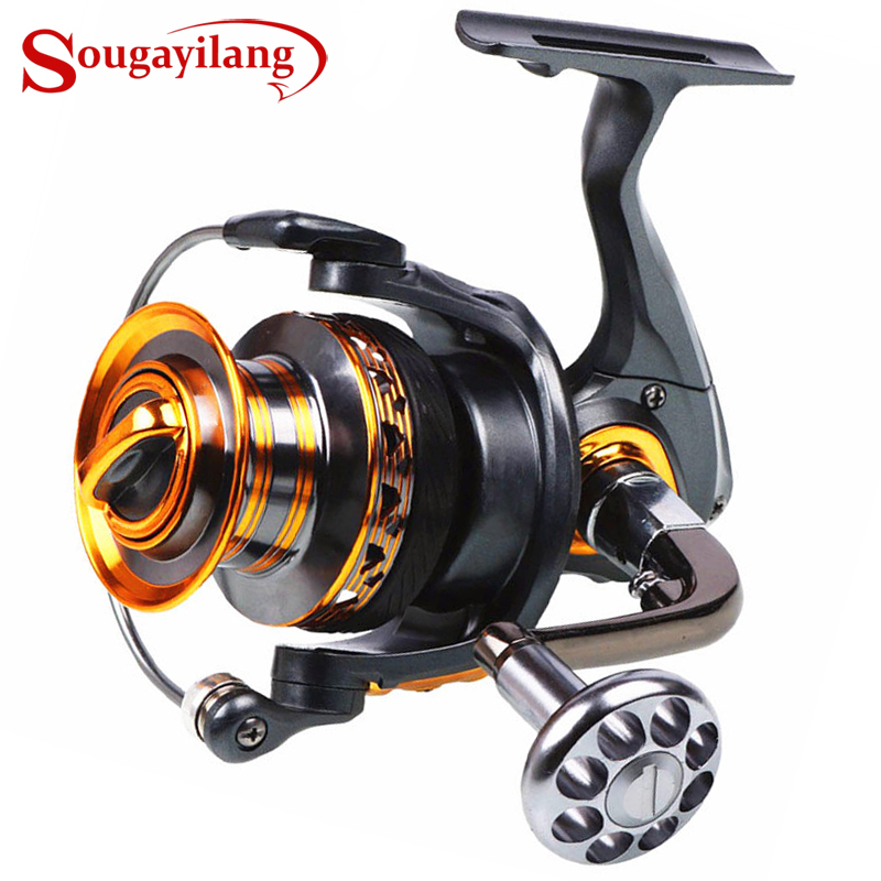 Sougayilang Big Spool Fishing Reel Spinning 13 + 1BB FDDL 4000-7000 Series Long Shot Saltwater Surfcasting Рыбалка колы De PESCA