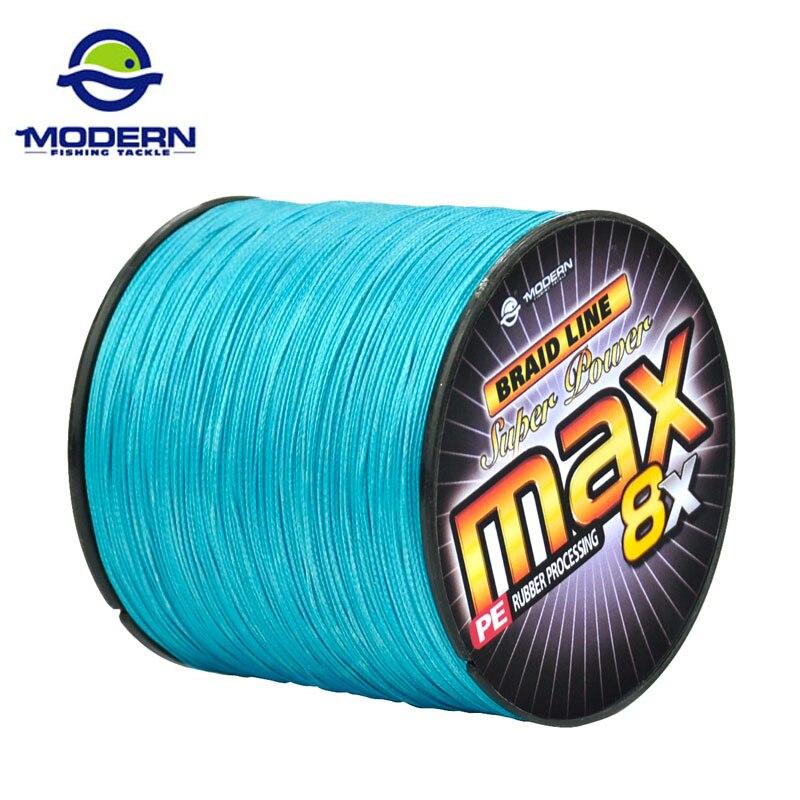300 M DE PESCA MODERNOS Marca MAX8X Japão multifilament PE trançada linha de pesca linha de fios trançados de fios 8 20 30 40 50 60 80 100LB