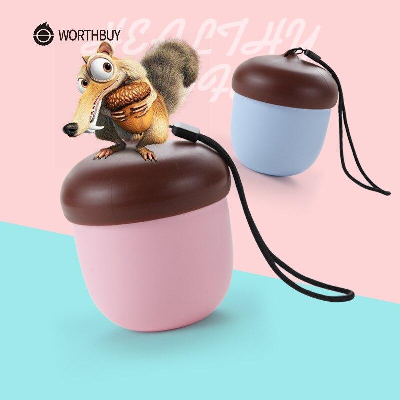 WORTHBUY Mignon Pomme De Pin Thé Tasse Café Tasse Pour Enfants Portable Voyage En Plastique Tasse Avec Boule À Thé Cuisine Tasse D'eau Verres