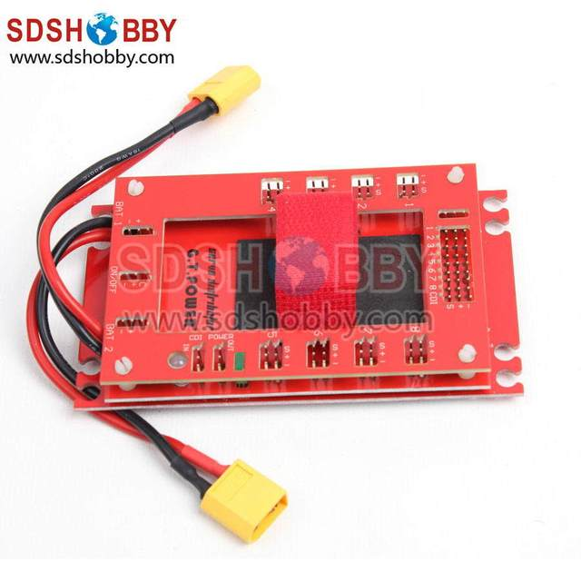 Mini Servo Section Board Power Box for Gas Plane with 30A UBEC-Red