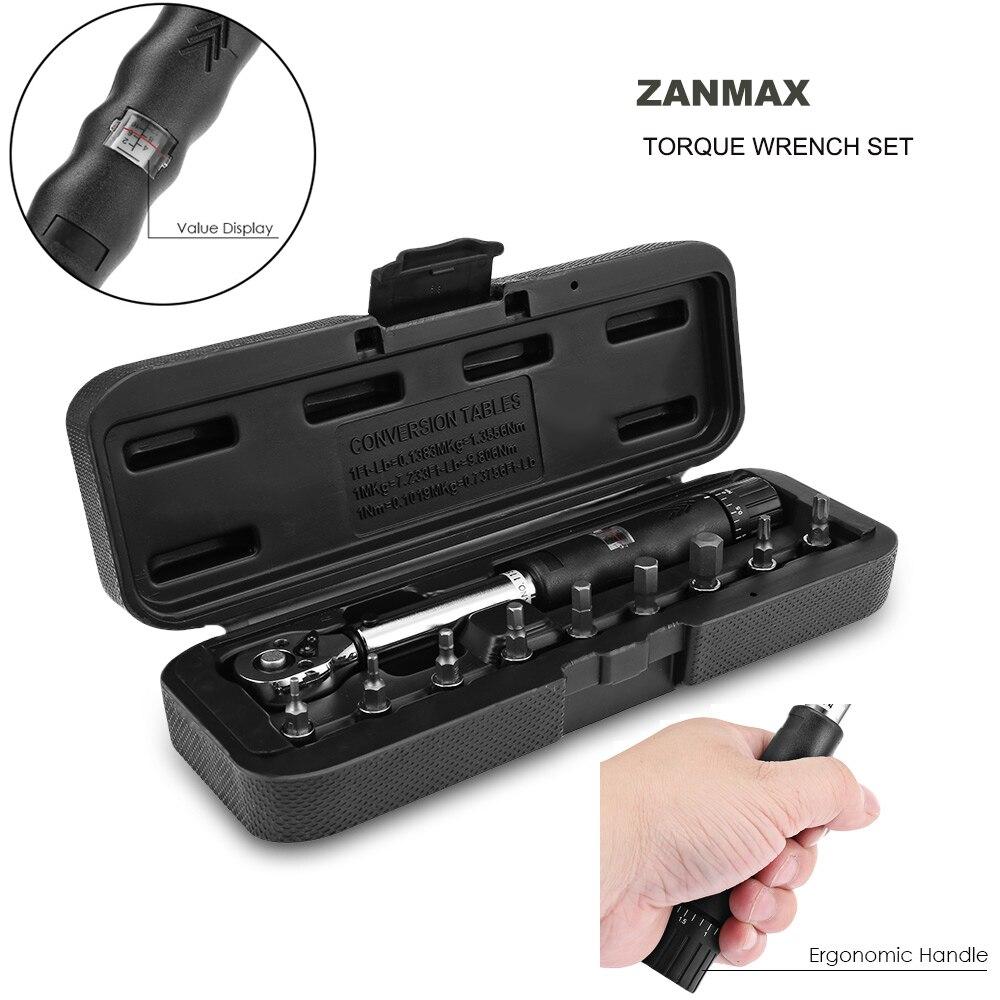 Zanmax herramientas de reparación llave de torsión conjunto bicicleta herramienta Auto Ajuste de reparación de bicicleta llave multifuncional conjunto de herramientas de mano