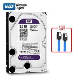 WD бренд 2000 внутренний жесткий диск 3,5 64 M кэш SATA3 HDD 6 ГБ/сек. 2 ТБ фиолетовый жесткий диск HD Жесткий диск для настольных компьютеров