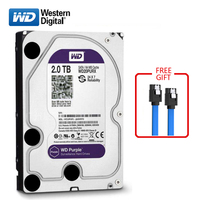 WD brand 2000GB internal hard disk 3.5 64M cache SATA3 HDD 6Gb/s 2TB Purple hard disk HD hard disk for desktop computers
