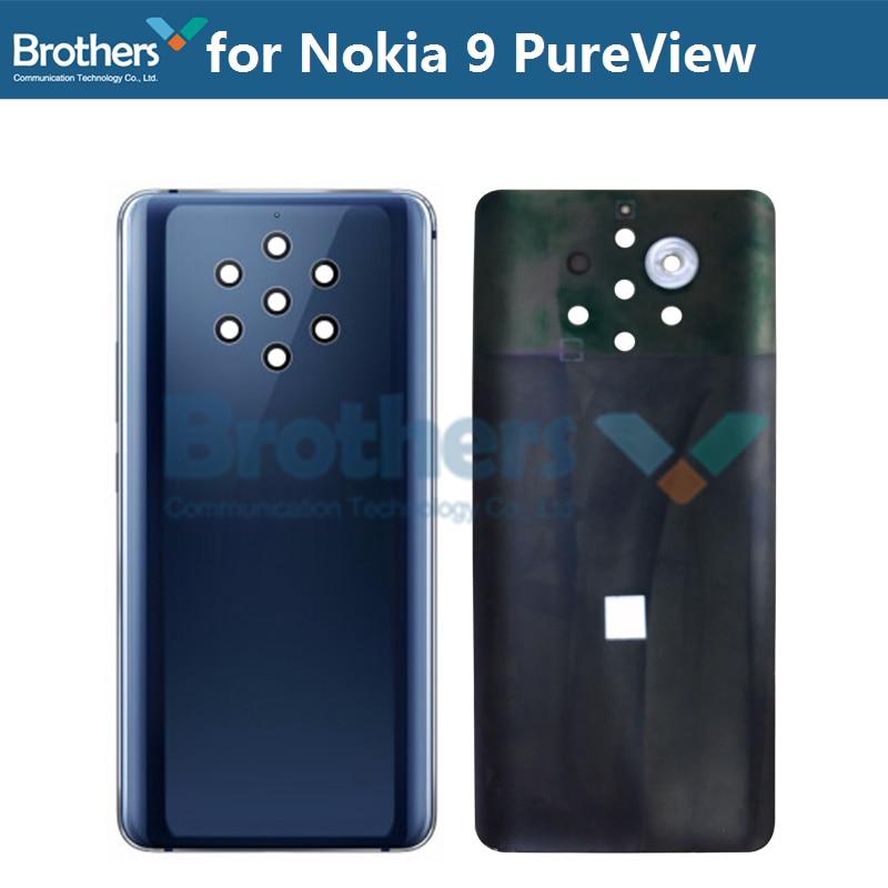 Coque arrière pour Nokia 9 PureView boîtier de batterie pour Nokia9 PureView porte de batterie avec adhésif 5.99 ''remplacement de téléphone Original
