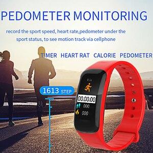 Image 4 - LIGE pulsera inteligente IP67 para mujer, Monitor de ritmo cardíaco a prueba de agua 1,14 con pantalla grande para Android ios