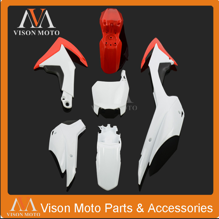 Complete Body Plastics Kits For Honda CRF110 CRF110F 13 14 15 Dirt Pit Bike MX Motocross Enduro Supermoto Off Road Racing