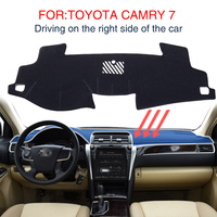 Smabee Dash Mat For TOYOTA CAMRY 2013 2016 CAMRY 7 Dashmat Black Carpet Car Dashboard Automotive