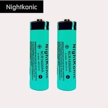 Original Nightkonic 2 pcs/lot 14500  Rechargeable Battery 3.7v Li-ion