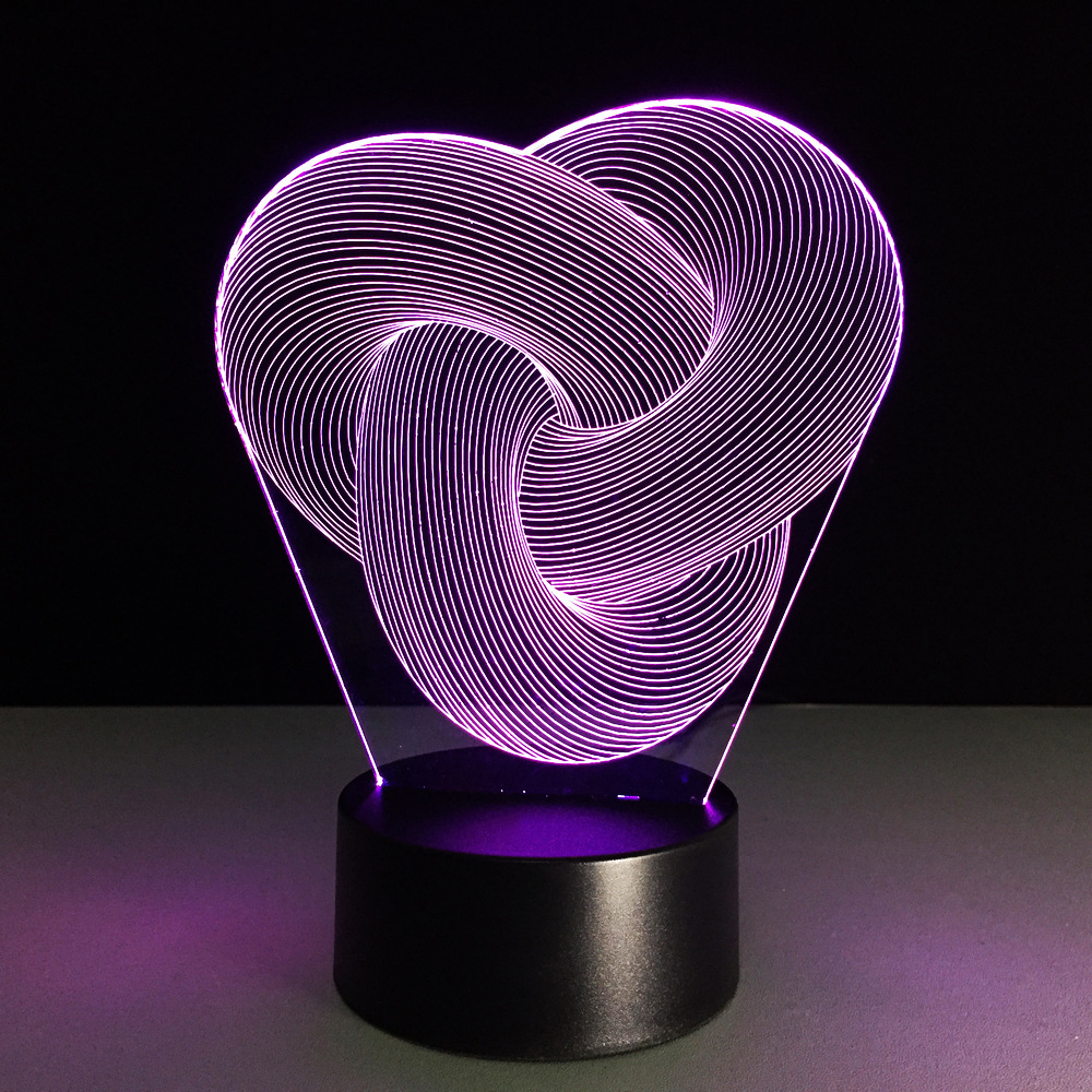 7 Colors Changing Desk Lamp Novelty LED Abstract Geometric Acrylic 3D Night Light Baby Sleep Lighting KidS Gifts Bedside Decor