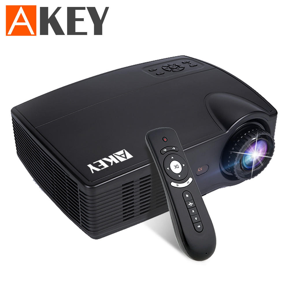 AKEY LED Projector 3500 Lumens Beamer 1280*800 LCD Projector TV Full HD Video Home Theater Multimedia HDMI/VGA/AV/USB
