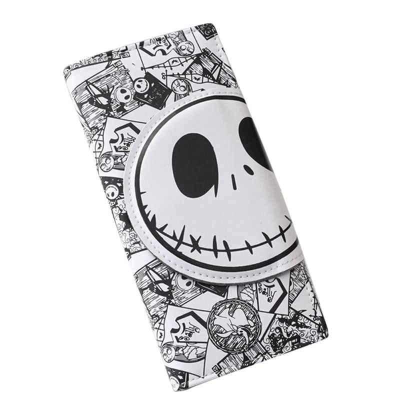 Nuevos cómics carteras con diseño Nightmare 18*8,5*2cm largos Unisex película de suspense de dibujos animados Jack cráneo monederos de cuero de la PU embrague