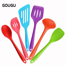 6pcs Silicone Kitchenware Set Baking Nonstick Cookware Spatulas Spoon Cooking Tools Set Kitchen Gadget Utensils FDA Approve